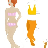 Draw Me a 1950s Paper Doll *Printable*