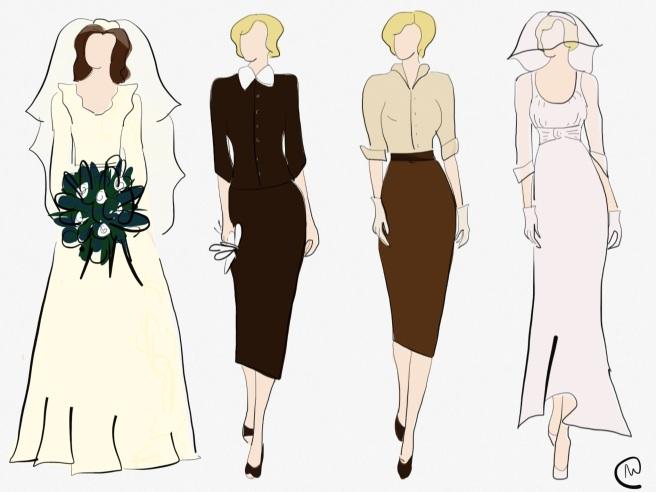 Marilyn Monroe's wedding dresses