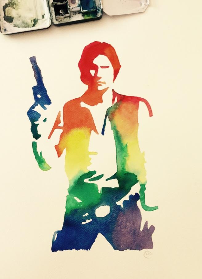 Han Solo rainbow painting