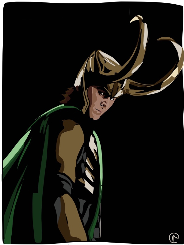 Loki with his massive horns