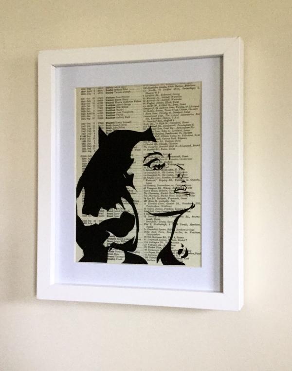 Retro Catwoman Art Print