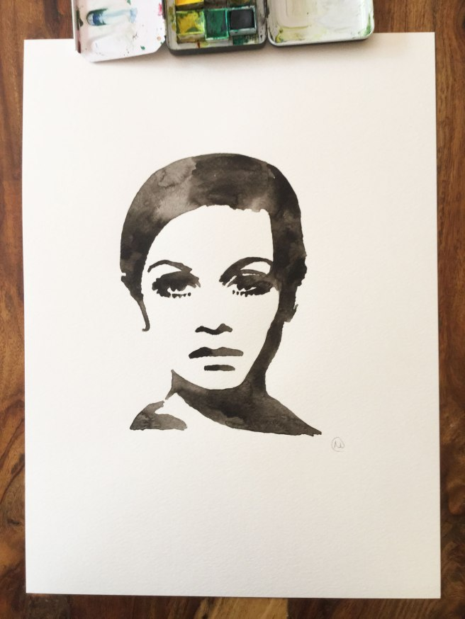 Twiggy Watercolour Painting Art