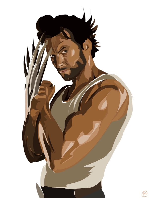 Wolverine Hugh Jackman art / painting